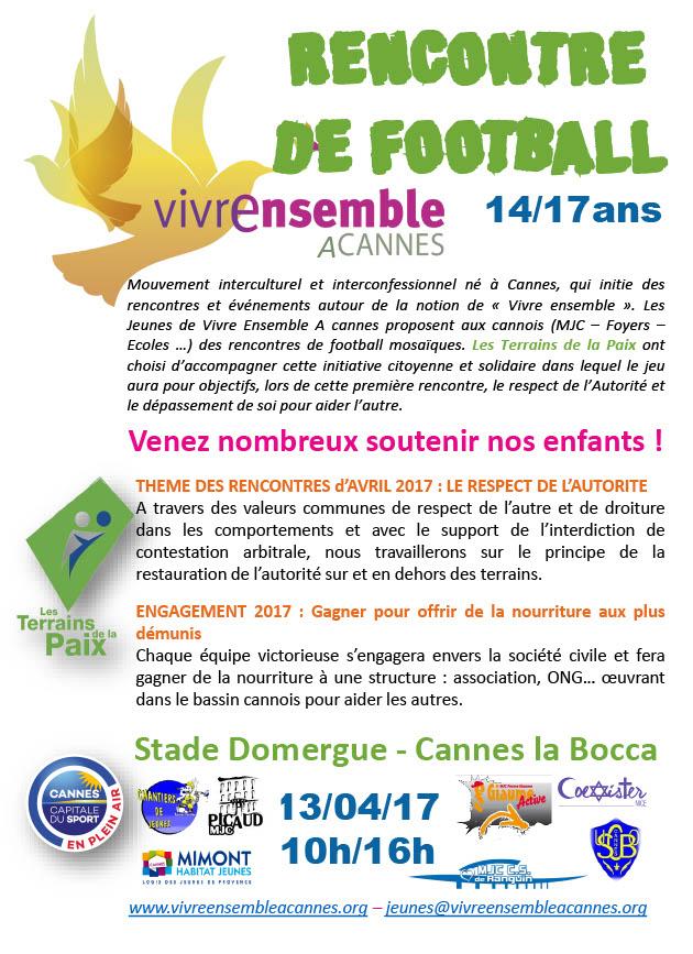 L'EQUIPE JEUNES DE VIVRE ENSEMBLE A CANNES VOUS INVITE A PARTAGER DES RENCONTRES DE FOOTBALL UNIQUES !