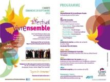 Le 3ème Festival Vivre ensemble à Cannes est annoncé !!!