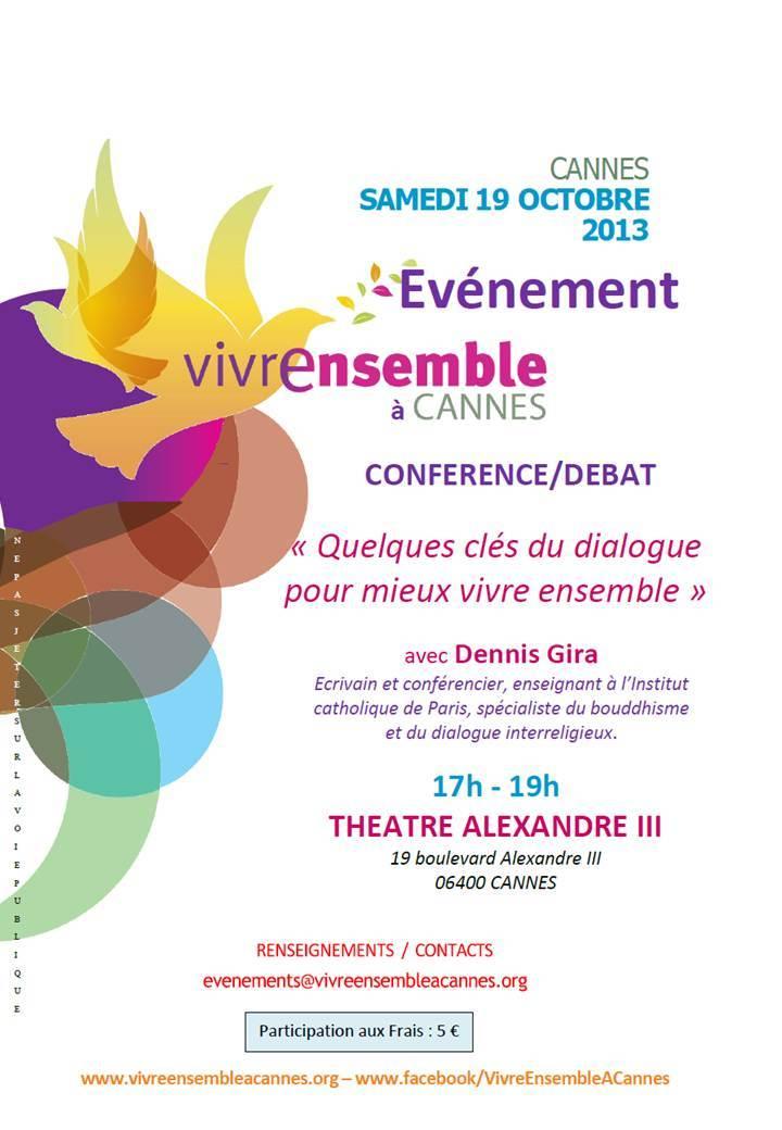 Ecoutez les interventions VEAC et la Conférence de Dennis Gira « Quelques clés du dialogue … pour mieux vivre ensemble »