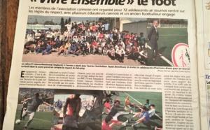 "NICE MATIN DU SAMEDI 14 AVRIL 2017 "" Vivre ensemble le foot"""