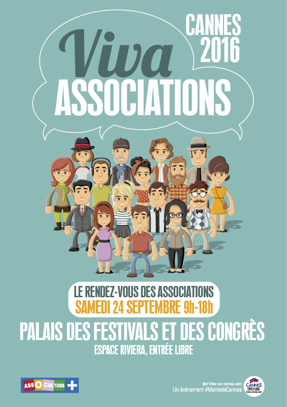 VIVRE ENSEMBLE A CANNES PRÉSENTE le 24 septembre 2016...AU SALON DES ASSOCIATIONS CANNOISES ! VIVA ASSOCIATIONS...