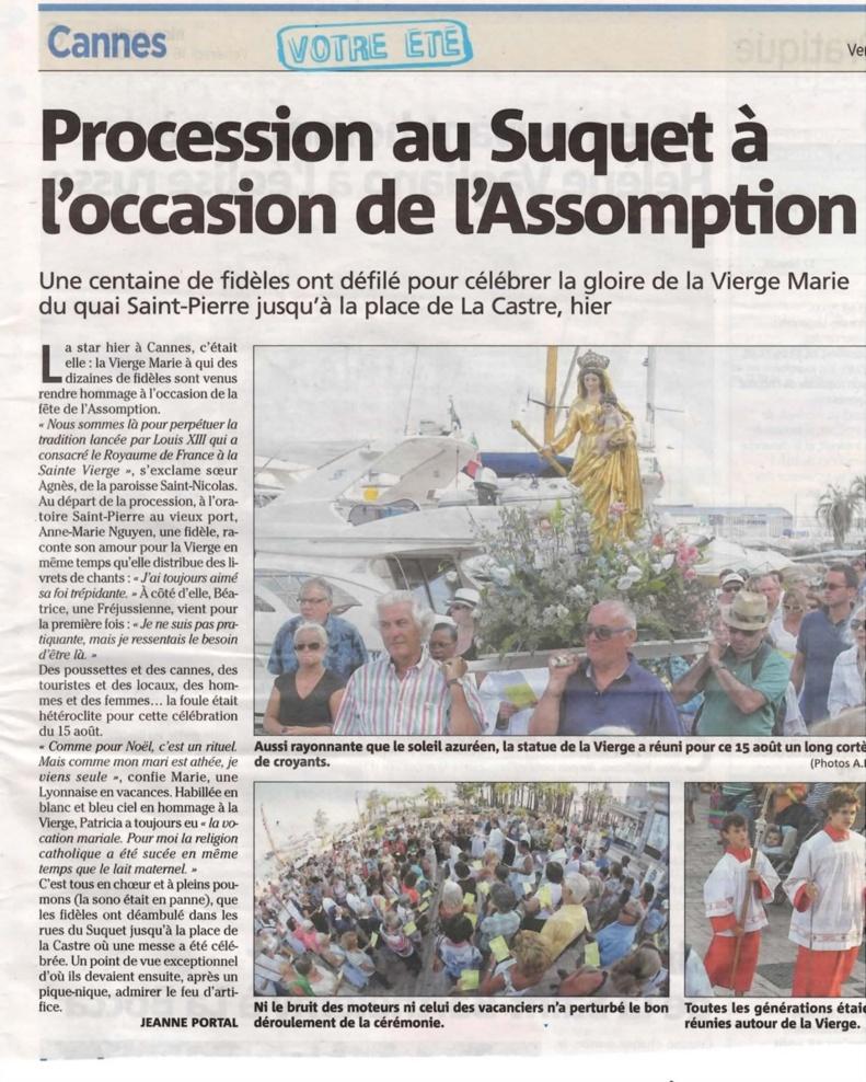 Procession au Suquet à l'occasion de l'Assomption