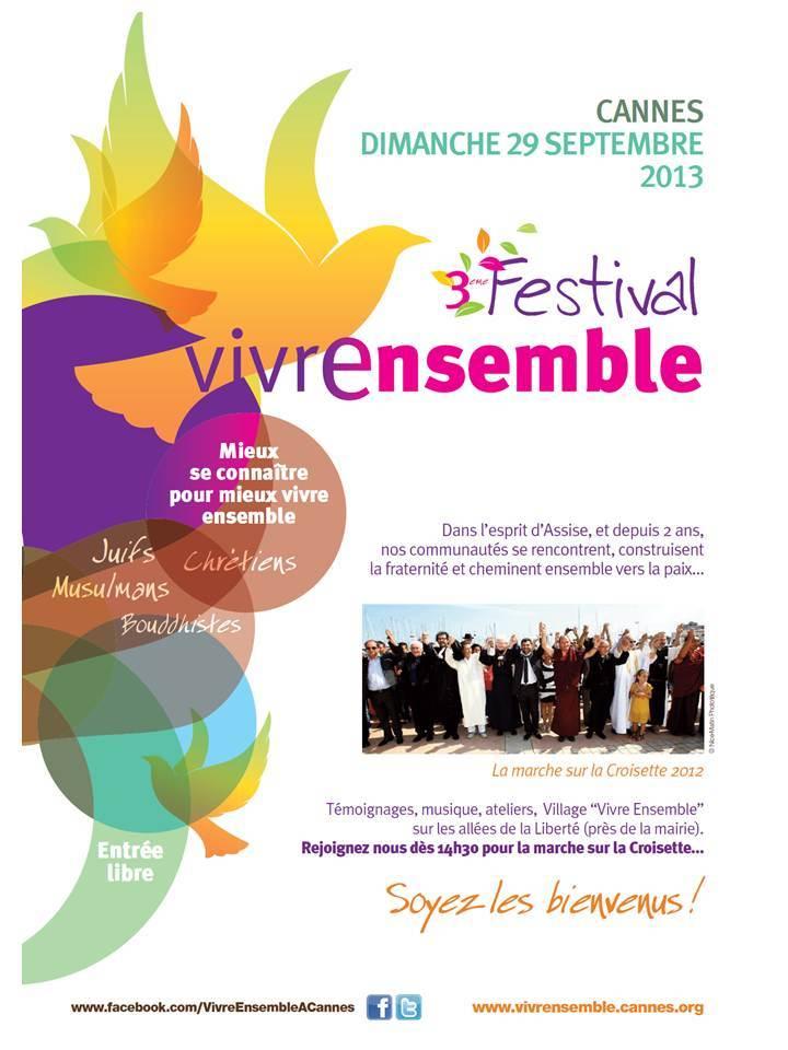 """29 SEPTEMBRE 2013 - 3ème Festival """"Vivre ensemble à Cannes""""  !!!"""