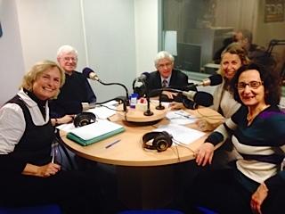 De Gauche à droite : Véronique Francou, Frère Jean-Baptiste, Philippe Jansen, Carole Glasman