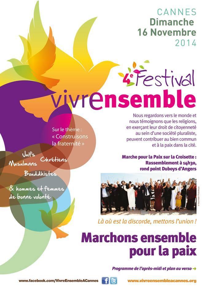 15-16 NOVEMBRE 2014 - 4ème Festival VEAC : Marchons tous ensemble pour la paix