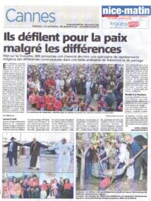 """2014 - 4 ème Festival Vivre Ensemble A Cannes : """"L' aventure continue""""..."""