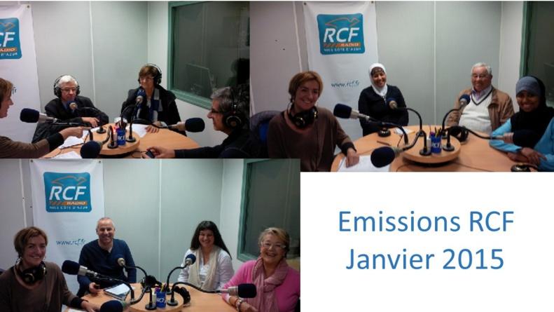 """RCF """"Croyants, ensemble vers la Paix""""...Emissions de Janvier 2015"""