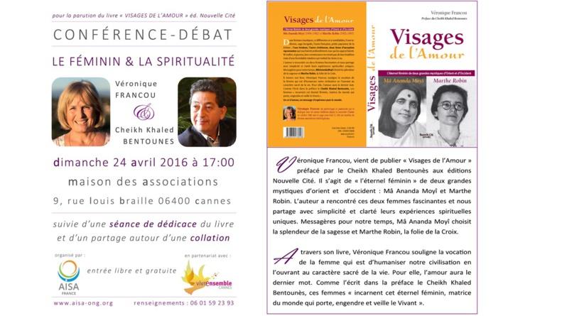 """Conférence """"Le Féminin et la Spiritualité"""" - Véronique Francou, Cheikh Khaled Bentounes"""