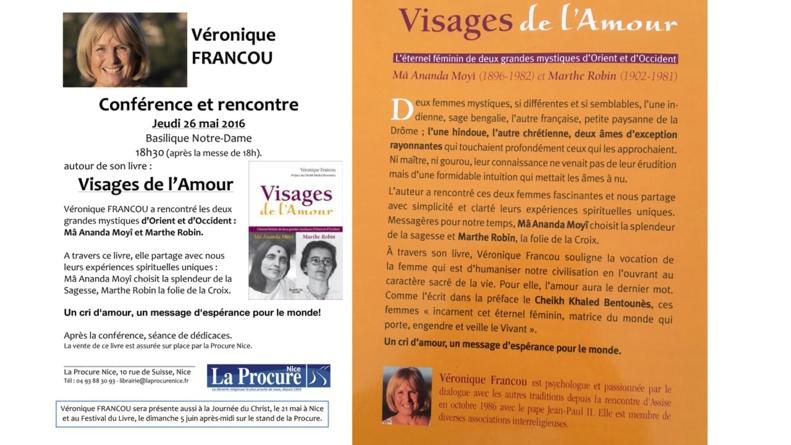 """""""Visages de l'Amour"""" - Un cri d'amour, un message d'espérance pour le monde ! - Basilique Notre Dame à Nice - Jeudi 26 mai 2016 à 18h30"""