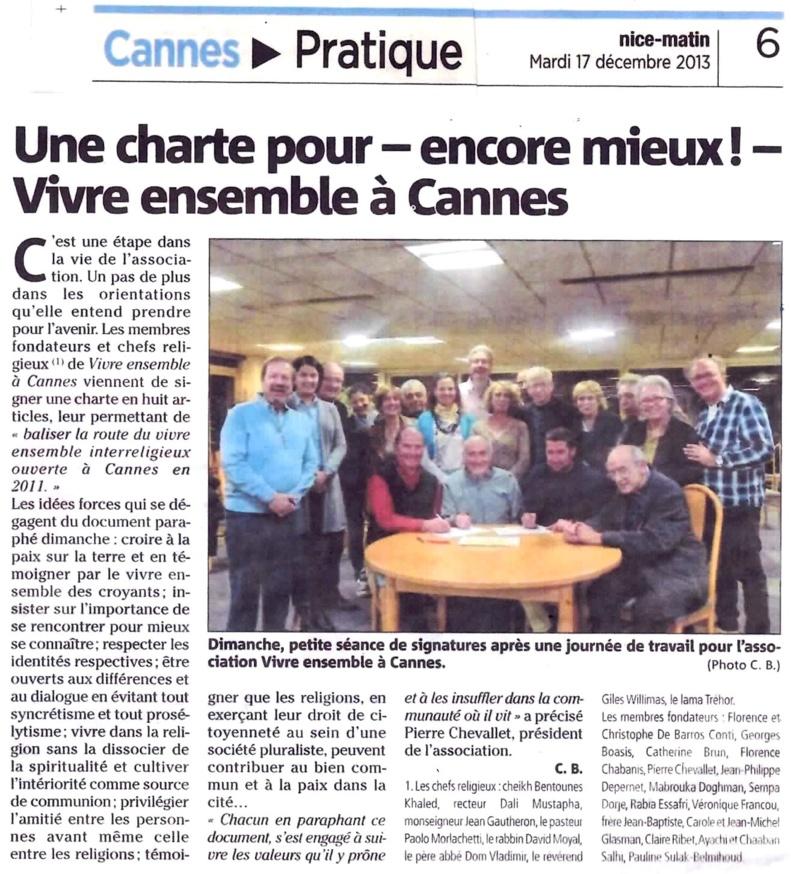 UNE CHARTE POUR -ENCORE MIEUX - VIVRE ENSEMBLE A CANNES !