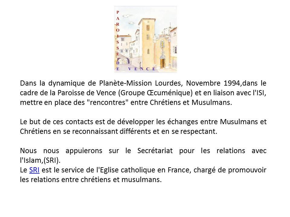"""Rencontre avec le groupe """"Chrétiens-Musulmans"""" de Vence qui reçoivent le Cheikh Bentounes..."""