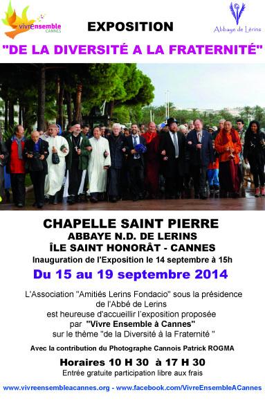 """Exposition : """"De la diversité à la Fraternité"""" - Inauguration le 14 septembre à 15h !"""