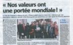 Cannes ville la plus fraternelle !!!! Lorsque le VEAC, Cannes et l'Italie se rencontrent au sommet de la Fraternité !