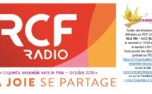 """RCF Nice-Côte d'Azur en Octobre 2017... Ecoutez les émissions hebdomadaires Vivre Ensemble A Cannes, """"Croyants, ensemble vers la Paix ! !"""
