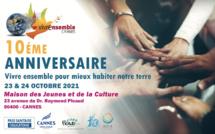 Dixième festival Vivre Ensemble à Cannes 23 et 24 Octobre MJC Picaud
