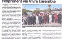 """Conflits : Les religieux cannois s'expriment via """"Vivre Ensemble A Cannes"""" dans Nice Matin..."""
